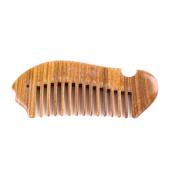 Breezelike No Static Fish Shaped Sandalwood Pocket Wide Tooth Comb