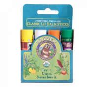 Badger Balm | Lip Balm Sticks - Blue Pack | 4 x Sticks