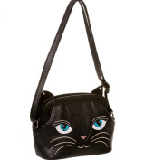 BANNED Clothing PVC Faux Leather Handbag Bag CAT Kitty Face Cute