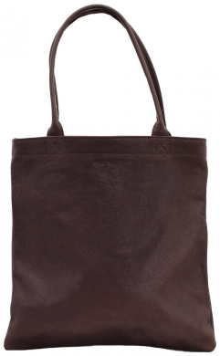 MON PARTENAIRE S dark brown leather shopping bag vintage style handbag PAUL MARIUS