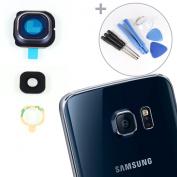 GENUINE Black Sapphire GLASS Camera Lens Frame Cover For for Samsung Galaxy S6 EDGE G925 + Tools