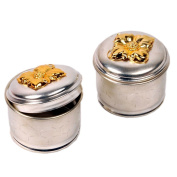 Little India Handicraft Mouth Freshener Box Of 2 Silver