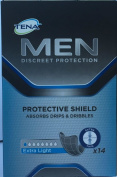 Tena for Men Protective Shield Extra Light 14 Pads x 3 Packs