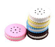 2 Of Cookie Shaped Contact Lenses Box Holders, Random Colour