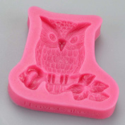 Owl Bird Perched on Branch Silicone Mould