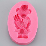 Scottish Bagpipes Teddy Bear Silicone Mould