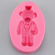 Tuxedo Gentleman Teddy Bear Silicone Mould