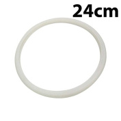 White 24cm Inner Dia Silicone Pressure Cooker Seal Sealing Ring Gasket