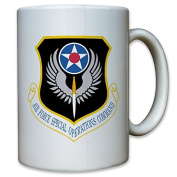 Air Force Operations Command AFSOC US United States America USA Air Force Army Insignia Crest Mug Coffee Subway 9966 t