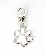 Genuine Silver 925 dog paw clip on charm ideal for Thomas Sabo bracelet or necklace