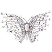 Butler and Wilson Large Crystal Butterfly Brooch