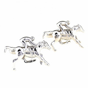 Fashion Men Horse Racing Silver Tone Business Party Shirts Cufflink Gift Links