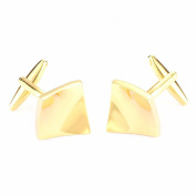 Golden Tone Simple Men Cuff Links Party Business Shirts Fashion Cufflink