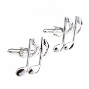 New Men's Gift Musical Note Fashion Cufflink Business Shirts Cuff Links