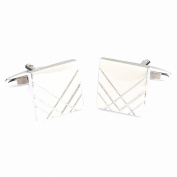 Siler Tone Men Square-Shaped Business Party Shirts Cufflink Gift Cuff Links