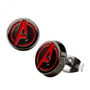 Official Marvel Avengers Age of Ultron Logo Round Stud Earrings