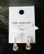 ADRIANA Earrings - Silver plated sparkly crystal teardrop earrings - nickel free - Joma Jewellery with Gift bag