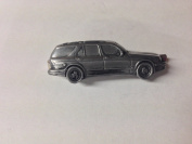 Saab 9.5 Kombi (1999) ref229 pewter effect emblem on a Tie Clip (slide) Handmade in sheffield comes with PrideInDetails gift box