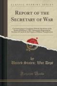 Report of the Secretary of War