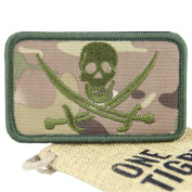 OneTigris Tactical Skull Pirate Patch hook and loop Morale Military Patch