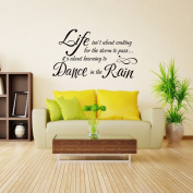 Life isn't about waiting for the storm to pass... Inspirational Quote Decal Home Vinyl Sayings - 8728