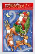 Sleigh and Reindeer with Glitter Advent Calendar 34 cm x 24 cm