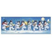 Medici Advent Calendar (MED0540) Snowman Band - Three Fold Four Sided - Flittered