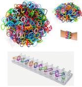 12 X Loom Band Set With 600 Loom Bands, 1 Loom + Hooks - Party Bag Toys - Party Bag Fillers