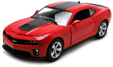 2012 Chevy Camaro ZL1 1/24 Red w/ Black Green Machine Chase Car - Greenlight Diecast