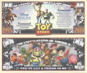 Novelty Dollar Toy Story Animated Adventure Film Million Dollar Bills x 4 Woody Buzz Lightyear