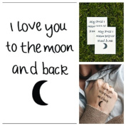 Moon Love- Moon Love Quote Temporary Tattoo