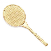 Tennis Gold Chenille Sports Lapel Pin