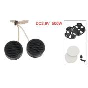Sonline 2 x 97dB 500W Dome Tweeters Black for Car Audio System