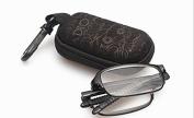 RG51 SUPER-LITE TR90 Material FOLDING,BENDABLE Black Reading Glasses Includes Case + Cloth +1.5 +2.0 +2.5