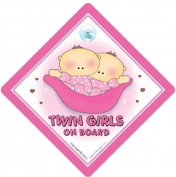 Twins on board Car Sign, Twin Girls On Board Sign, Pink Peapod, Twins on Board Car Sign, Twins on board Sign, Baby on Board Sign, baby on board, decal, bumper sticker, Twins Sign