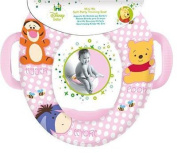 Disney Pooh Padded Kids Toilet Training Seat With Handles In Pink WC Child Toddler