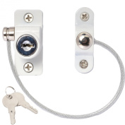 Window & Door Cable Restrictor Lock With Screws Child & Baby Safety Security Wire