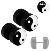 Soul Cats® 1 pair of sweet Fakeplugs Fake Plug Plugs Studs Fake Ying Yang