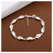 NYKKOLA Classic Beautiful Women Jewellery Elegant 925 Solid Silver Chain Bracelet