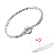17 to 21cm Silver Charm Bracelet For Pandora Style European Charms Gift Boxed By Truly Charming®