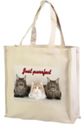 Maine Coon Cats, Just purrfect, Cotton Shopping Bag, Cream