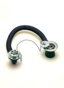 1 1/2 bath combination waste chrome overflow stainless ball chain brass plug 86