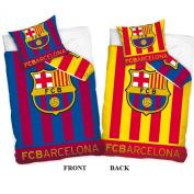 FC Barcelona Reversible Single Duvet Cover and Pillowcase Set
