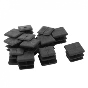 15mm x 15mm Plastic Square Caps Tube Pipe Inserts End Blanking 12 Pcs
