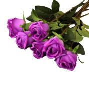 6pcs Artificial Flowers Rose Plants for Wedding Bouquet Table Arrangement
