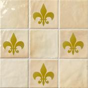 Fleur De Lis Tile Stickers - Pack of 15 Fleur-de-lys Stickers