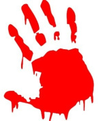 Zombie Hand Print Car Window Van Sticker Any Colour Free U.K. P & P