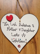 DAUGHTER PLAQUE GIFT SIGN PRESENT WOODEN HEART HAND MADE DAUGHTER MUM MOTHER