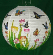 5.1cm x 36cm Traditional Chinese Paper Hanging Lantern - Butterfly Lamp Shade