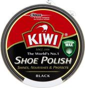 Kiwi Shoe Polish Tin 50ml Black Shines, Nourishes & Protects Fast Postage